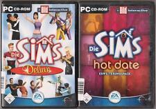 DIE SIMS 1 Deluxe HAUPTSPIEL & Volle Leben + Hot Date Sammlung PC Spiele