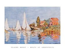 MONET, BOATS AT ARGENTEUIL  print poster 22 x 28