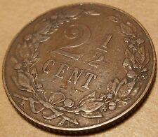 Netherlands 2 1/2 Cents 1905 KM#134 Wilhelmina (N-15)