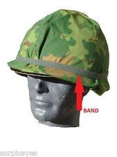 BAND HELMET M1 CAT EYE f/ CAMOUFLAGE VIETNAM WAR ARMY USMC MILITARY w SHELBY P38