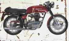 Royal Enfield Continental GT 1966 Aged Vintage Photo Print A4 Retro poster
