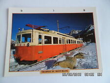 CARTE FICHE TRAINS DE LEGENDE TRAMWAY DU MONT BLANC