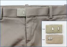 Cream Hook & Bar Waist Extender Closure Pants Shorts Trouser Line Widen Expander