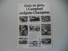 advertising Pubblicità 1982 CHAMPION e ANDRE' MALHERBE/ANGEL NIETO/NEIL HUDSON