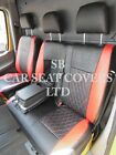 TO FIT A VW TRANSPORTER T5 VAN, SEAT COVERS, 2011, BLACK RED BENTLEY DIAMOND