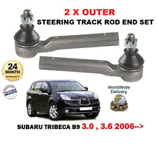 FOR SUBARU TRIBECA 1/2005-  3.0i B9 2 X NEW FRONT OUTER TIE TRACK ROD ENDS