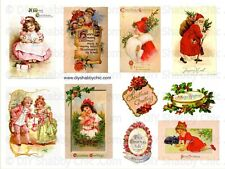 FRENCH FURNITURE DECAL DIY SHABBY CHIC IMAGE TRANSFER VINTAGE LABEL CHRISTMAS