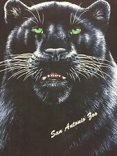 Vintage Panther T-shirt San Antonio Zoo Animal Rain Forest All Over Print Cat