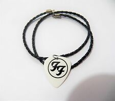 FOO FIGHTERS FOOFIGHTERS guitar pick plectrum braided LEATHER NECKLACE 20""