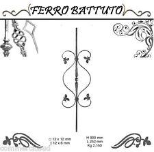 PANNELLI PALETTI FOGLIATI FERRO BATTUTO X SCALA RINGHIERE CANCELLO H 90cm L 25cm