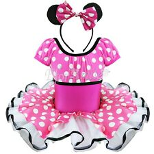Girls Kid Minnie Mouse Fancy Dress Costume Polka Dot Tutu Outfit Party Dress Up