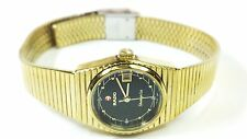 Vintage Rado Shangri-La Swiss Automatic Gold Plated Petite LDS Watch 561-4016-2