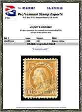 #416a Used PSE Certificate # 01228387, Brown Yellow shade, extremely rare stamp!