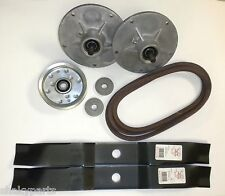 "Murray Lawnmower 38"" Deck Rebuild Kit Spindles Blades Belt Pulley Adapters"