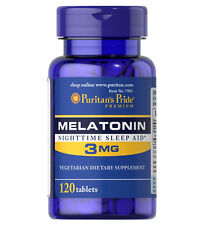 Puritan's Pride Melatonin 3mg Night Time Sleep Aid 120 Tablets