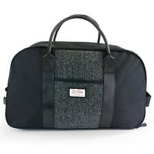 HARRIS TWEED Grey Black Plaid Wheelie Cabin Holdall Sale Brand New Line