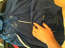 Armani Exchange blue   zip up warm up  Jacket  Men's Large