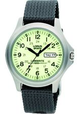 LNP RXF41AX7 Lorus Gents Lumibritte Stainless Steel Military Style Watch
