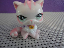 KEYLIGHT Keychain = PET SHOP NO 460 PINK WHITE PERSIAN CAT GREEN EYES New
