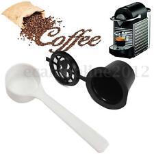 Capsule Rechargeable + Cuillère Pr NESPRESSO Réutilisable Café Espresso Tasse