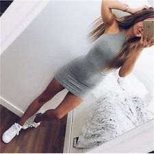 Fashion Women Bandage Bodycon Sleeveless Evening Party Cocktail Mini Short Dress