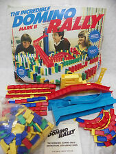 Vintage Large Replacment Lot of Domino Rally Extra Parts Dominos Ramps + More