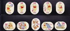 JAPAN 2013 DISNEY CHARACTERS WINNIE THE POON 80 YEN COMP. SET OF 10 STAMPS USED