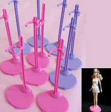 Plastic Pink Hangers Stand for Barbie Doll Dress Clothes Accessories