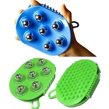 Ball Massage Brush Glove 7 Rolling /palm silicon Brush Slimming Brush Full Body