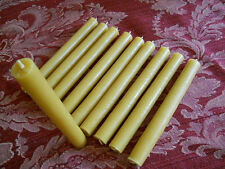 "16 Organic beeswax candles 3/4"" in diameter x 7"" Long"