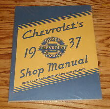 1937 Chevrolet All Passenger Cars & Trucks Repair Shop Manual Chevy 37