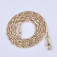 Yellow Sold Gold Filled Real 14K Mens Long Punk Vintage Jewelry Chain Necklace
