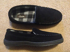 Clarks black men's slippers size 11 with 34 Medium snow camo fleece pj pant