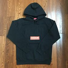 New Supreme Embroidered Outline Hooded Sweatshirt Hoodie Fall Winter 2016 Size L