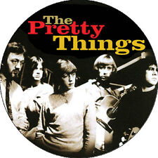 CHAPA/BADGE THE PRETTY THINGS . rolling stones yardbirds animals kinks beatles