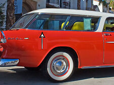 1 Restored-Polished 55-56-57 Chevy Nomad Safari Stainless Exterior Window Trim