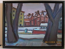 "Oil painting by Boris Borshch Belorussian/Russian, framed. ""Kronverksky strait""."