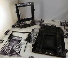 Speed Graphic 4x5 Military Black Trim Wartime Camera Parts Graflex