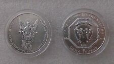 "Ukranian ""Archangel Michael"" 1 oz silver coin, UNC, mint in original capsule"