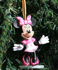 Disney Mickey Mouse Clubhouse Minnie White Apron Christmas Ornament PVC Figure