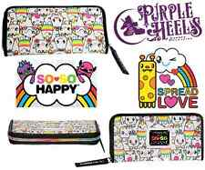 Loungefly Loves So So Happy Friendlees White Rainbow Zip Around Bifold Wallet