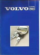 Catalogue brochure Katalog Prospekt VOLVO GAMME 8 PAGES Année 1985
