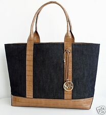 Michael Kors Tasche/Bag/Shopper  BRIANNE TOTE Leder/Canvas Dark Denim NEU