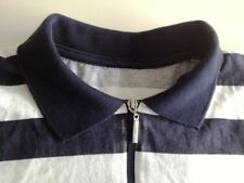 Paul Shark Yachting Polo-Shirt Herren Kurzarm Weiß Gestreift Baumwolle Gr. M