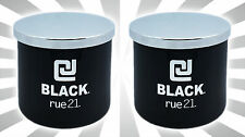 x2 CJ Black by rue21 3-Wick Cologne Scented Men's LIMITED EDITION Candle 14.5OZ