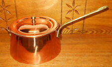 New / Never Used Copper w/ Brass Handle Sauce Pan