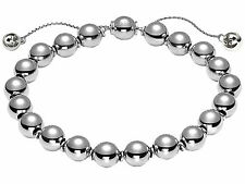 New Gucci Sterling Silver Beaded Boule Chain Women's Bracelet YBA373678001017