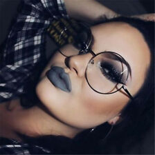 Retro Metal Frame Clear Round Lens Glasses Nerd Cute Spectacles Eyeglass black