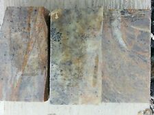 3PC 4x2x1.25 Soapstone for carving, block slab rock pipe making pipe pendant