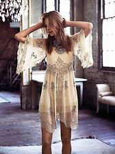 Free People Kristal's Limited Edition Ivory Beaded Embellished Dress-S-$600 MSRP
